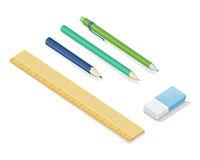 Stationery Vector Set In Isometric Projection Stock Photo