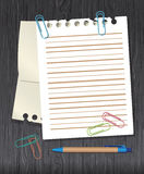 Stationery vector set Royalty Free Stock Photography