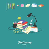 Stationery vector set Stock Photos