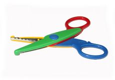 Stationery - Wavy Scissors. Stationery - Colorful Wavy Scissors royalty free stock photo