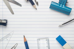 Stationery on writing paper Stock Image