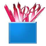 Stationery and writing utensils Royalty Free Stock Photography