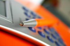 Stationnaire orange image stock
