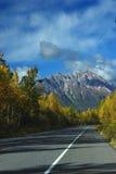 Stationne l'omnibus dans des couleurs d'automne Image libre de droits
