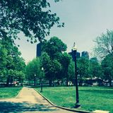 Stationnement à Boston Photographie stock libre de droits