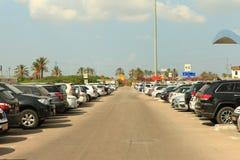 Stationnement à long terme à l'aéroport de Ben Gurion Images stock