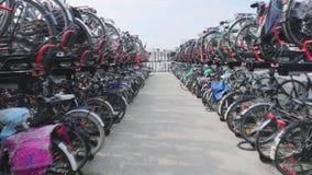 Stationnement Amsterdam de bicyclettes clips vidéos