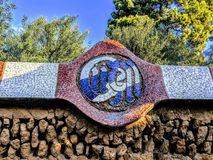 Stationnement Barcelone de Guell photo stock