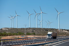 Stationnement d'énergie éolienne Photos stock