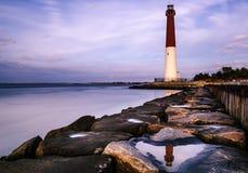 Stationnement d'état de phare de Barnegat Images libres de droits