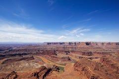 Stationnement d'état de point de cheval mort, Utah image libre de droits