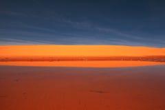 Stationnement d'état rose de corail de dunes de sable Image libre de droits