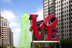 Stationnement d'amour à Philadelphie Photographie stock
