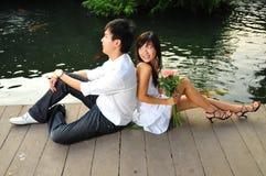stationnement d'amour de couples Images stock