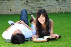 stationnement d'amour de couples Photographie stock