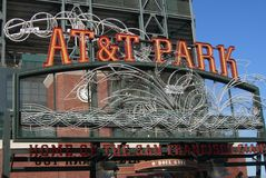 Stationnement d'AT&T - San Francisco Giants Images libres de droits