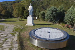 Stationnement d'Aristote chez Stageira de la Grèce Image libre de droits