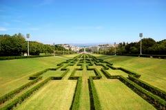 Stationnement d'Eduardo VII, Lisbonne Image stock