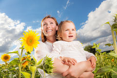 Stationnement d'enfant de mère Photographie stock libre de droits