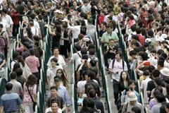 stationnement d'expo de visite de 500000 visiteurs en jour Photo stock