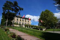 Stationnement d'hôtel de ville d'Aix-les-Bains Photos libres de droits