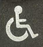 Stationnement d'handicap Photographie stock libre de droits