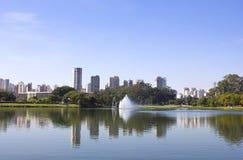 Stationnement d'Ibirapuera Photographie stock libre de droits