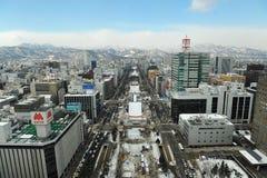 Stationnement d'Odori (Sapporo) Image libre de droits
