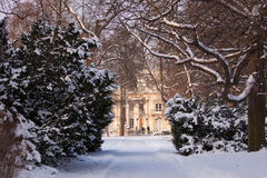 Stationnement de Bath de Roayl pendant l'hiver Photographie stock libre de droits
