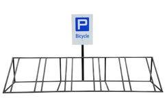 Stationnement de bicyclette photographie stock libre de droits