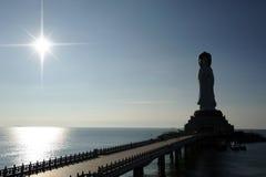Stationnement de bouddhisme, zone culturelle nanshan de tourisme de Sanya Photographie stock libre de droits