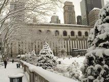Stationnement de Bryant en hiver Images libres de droits