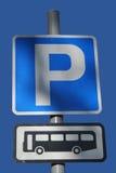 Stationnement de bus Photo stock