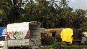 Stationnement de camion photo libre de droits