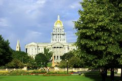 Stationnement de capitol de Denver Photo stock
