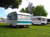 Stationnement de caravane Photographie stock libre de droits