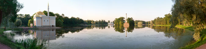 Stationnement de Catherine dans Tsarskoye Selo Image libre de droits