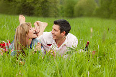 Stationnement de couples Photo stock