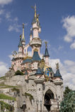 Stationnement de Disneyland près de Paris Photos libres de droits