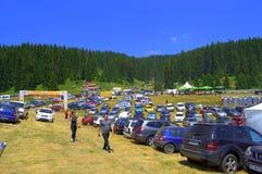 Stationnement de festival de Rozhen, Bulgarie Photos libres de droits