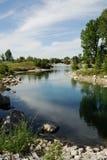 Stationnement de fleuve de proue Image libre de droits