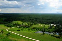 Stationnement de forêt à l'Inner Mongolia images stock