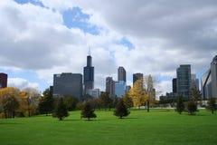 Stationnement de Grant d'horizon de Chicago Photographie stock libre de droits