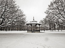 Stationnement de Greenwich dans la neige Photos libres de droits
