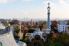 stationnement de guell de Barcelone Photographie stock libre de droits