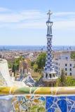stationnement de guell de Barcelone Photos stock
