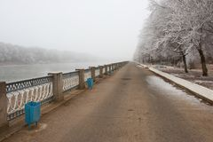 Stationnement de l'hiver Photo libre de droits