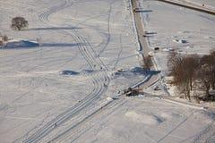 Stationnement de l'hiver Photos stock