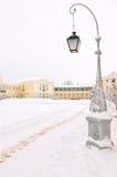 Stationnement de l'hiver, Pavlovsk, St Petersburg, Russie Image libre de droits