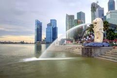 Stationnement de Merlion, Singapour Image stock